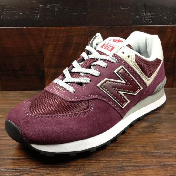 new balance 574 burgundy mens